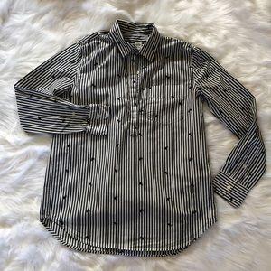 GAP Women's size XS 1/2 Button Down shirt EUC